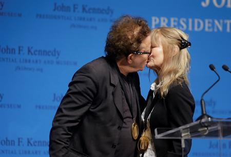 Tom Waits His Wife John Prine Receive Songwriting Awards
